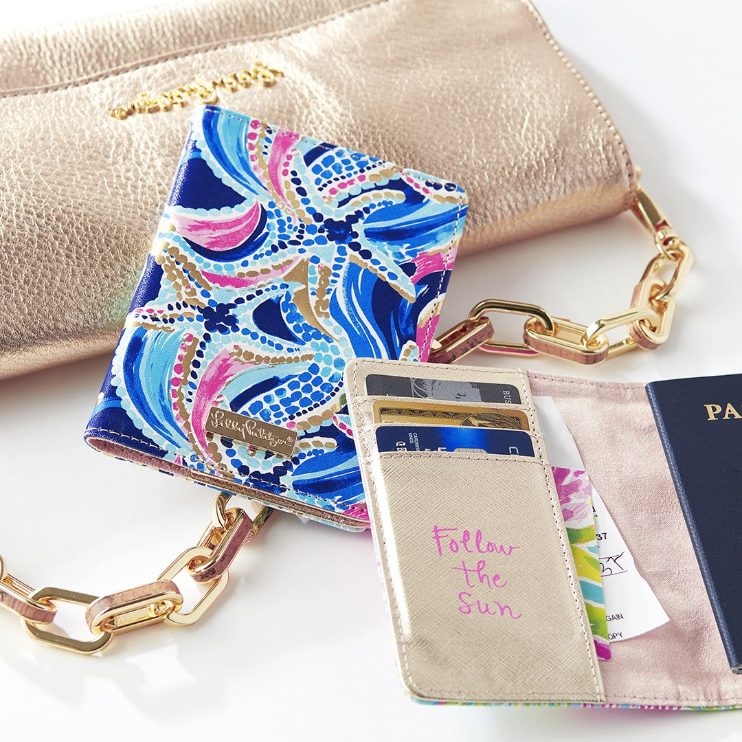Lilly Pulitzer Passport Holder Ocean Jewels Fashion Accessories Jewelry Gift Boutique Lilly Pulitzer