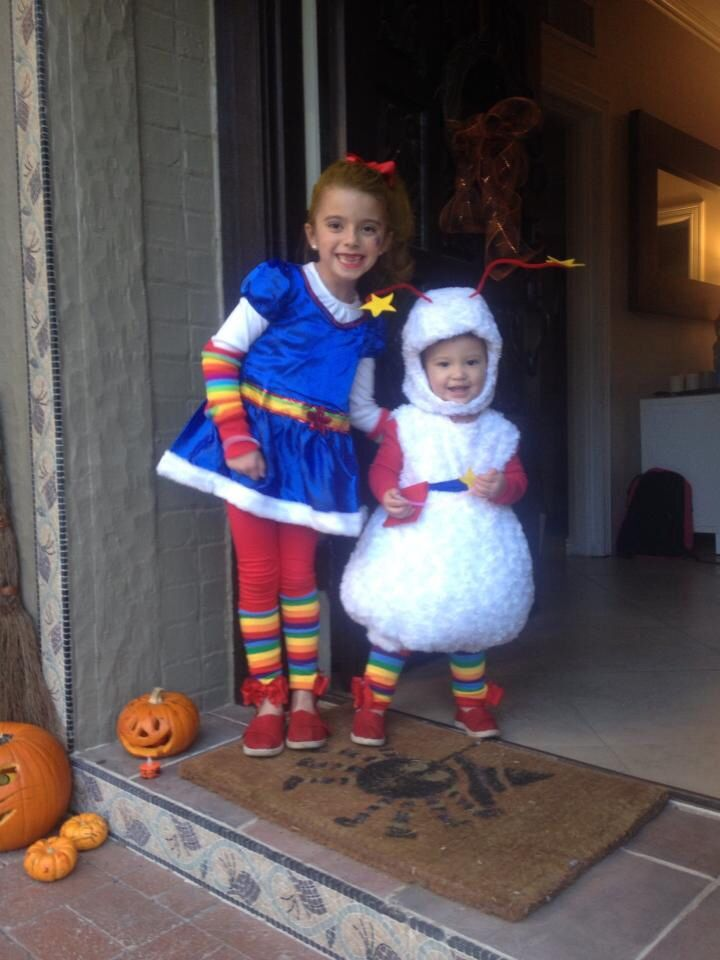 Rainbow brite and twink A cute sibling costume idea for Halloween - halloween costume ideas cute