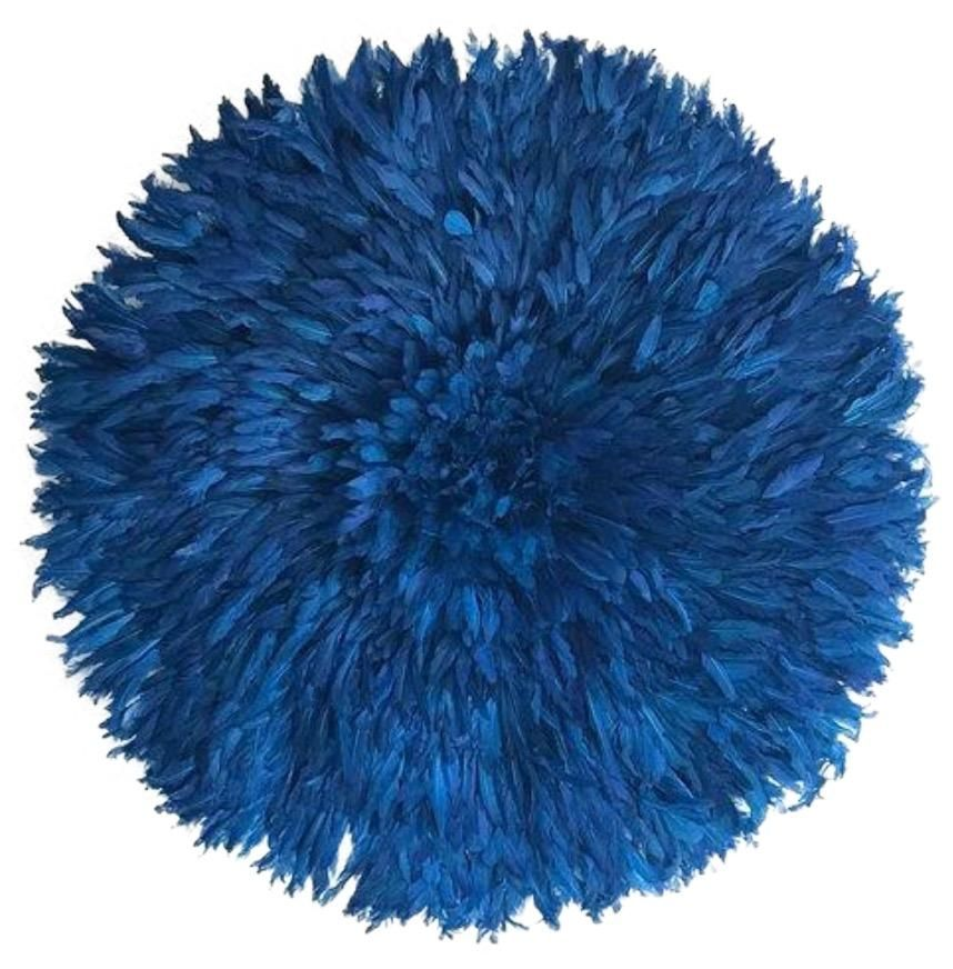 African juju hat indigo blue juju hat handmade