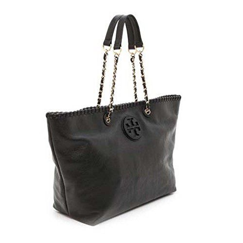 b2e717b87fea Tory Burch Marion East-West Womens Black Purse Leather Tote Tory Burch  http