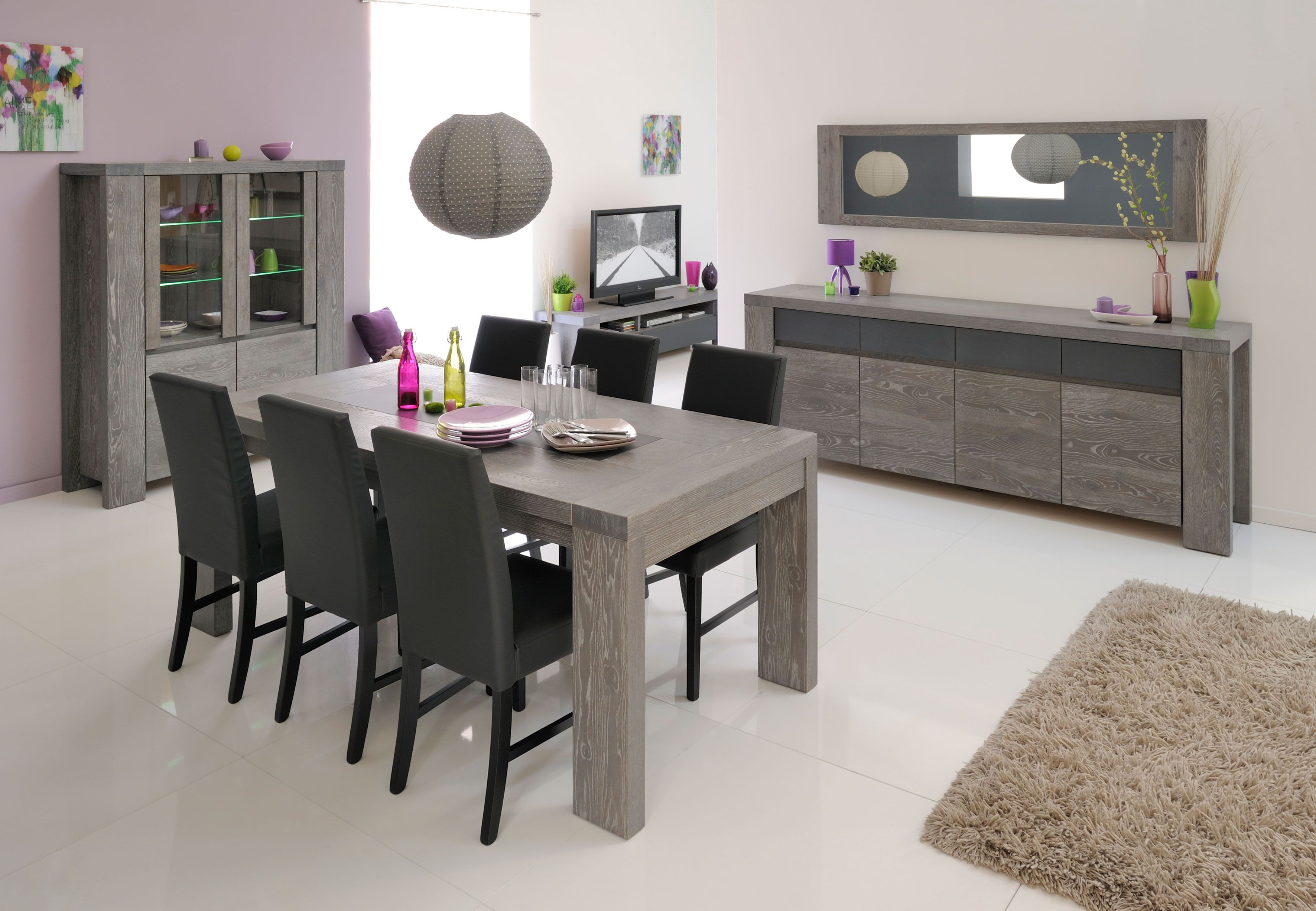 Mobila Sufragerie Moderna Stejar Bristol 2 Ron0 00 Mobilena Dining Table Dining Table In Kitchen Living Room Colors
