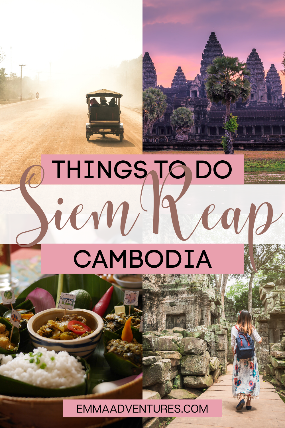 The best things to do in Siem Reap, Cambodia! Your ultimate travel guide to Siem Reap, Cambodia! What to do in Siem Reap, best things to do in Siem Reap, where to go in Siem Reap, where to eat in Siem Reap, where to stay in Siem Reap, Siem Reap travel guide. #siemreap #cambodia #southeastasia