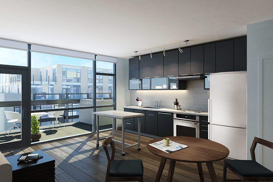 The Shay Apartments Washington Dc Luxury Modern Apartment Kitchen In 2020 Modern Kitchen Apartment Apartment Kitchen Cool Apartments