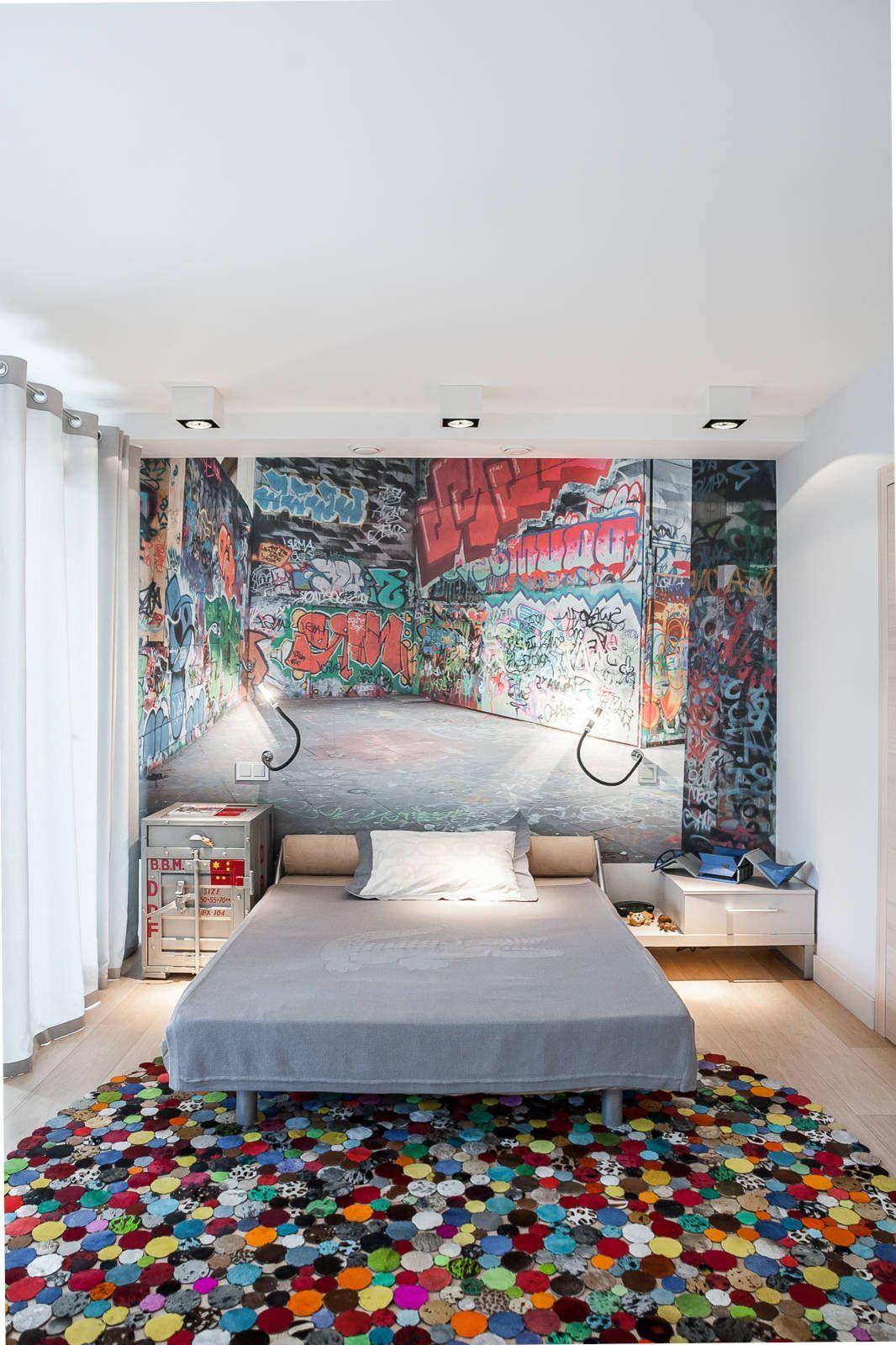 55+ идей оформления прямоугольной комнаты http://happymodern.ru/pryamougolnaya-komnata/ 3D-обои обои в комнате подростка