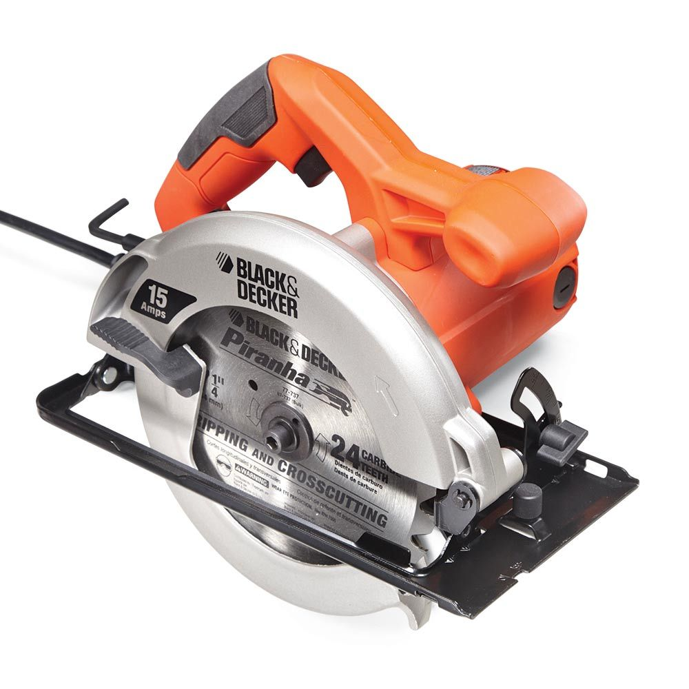 Black & Decker CS1015 - Circular Saw Review: What are the Best Circular Saws? Get the guide: http://www.familyhandyman.comtools/circular-saws/circular-saw-review-what-are-the-best-circular-saws