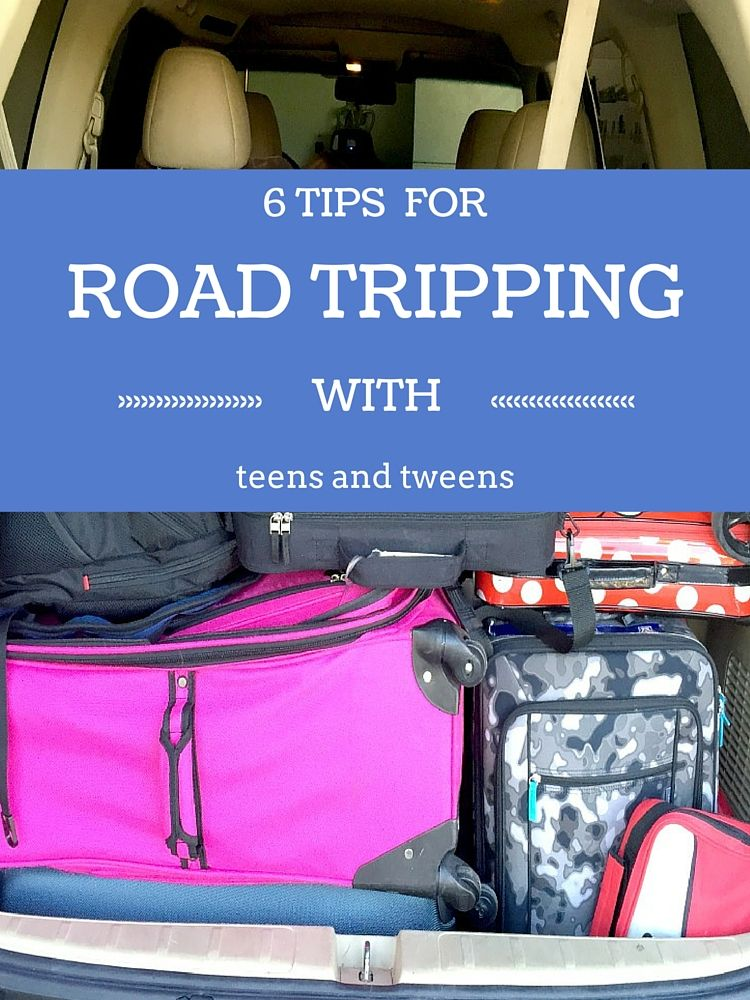 Six Tips for Road Tripping with Teens and Tweens from the been there done that traveling mom. Packing- they can help! But don't expect perfection.