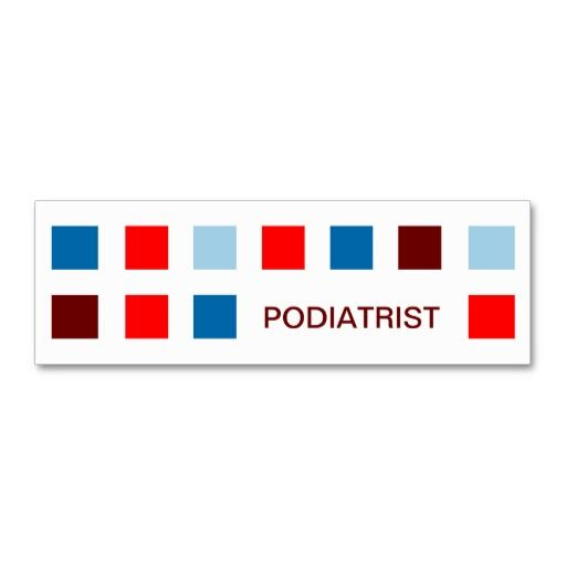 PODIATRIST Mod Squares Mini Business Card Business Cards Card - Mini business card template