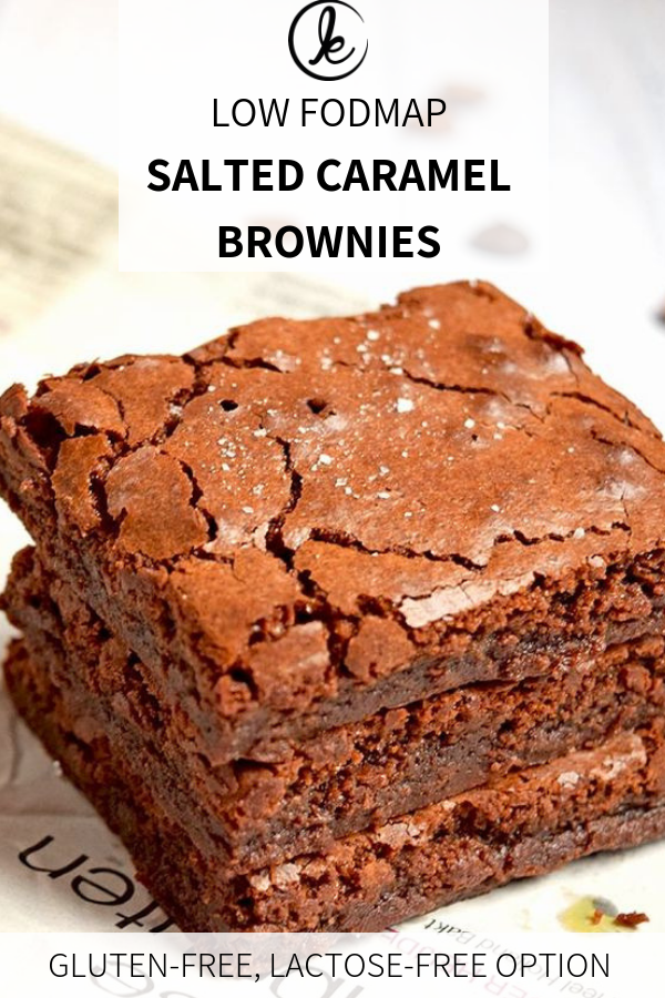 Photo of Low FODMAP salted Caramel Brownies (gluten-free)