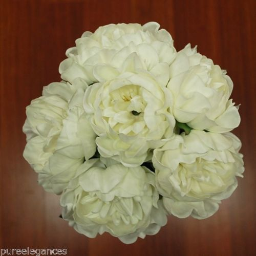 WEDDING-BOUQUET-FLOWERS-LATEX-REAL-TOUCH-PEONY-PEONIE-WHITE-6-HEADS-ROSES-ROSE