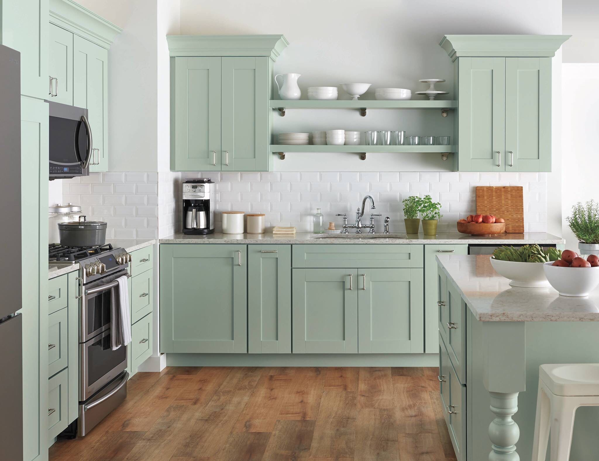pin by erika howell on kitchens green kitchen designs on awesome modern kitchen design ideas id=43887
