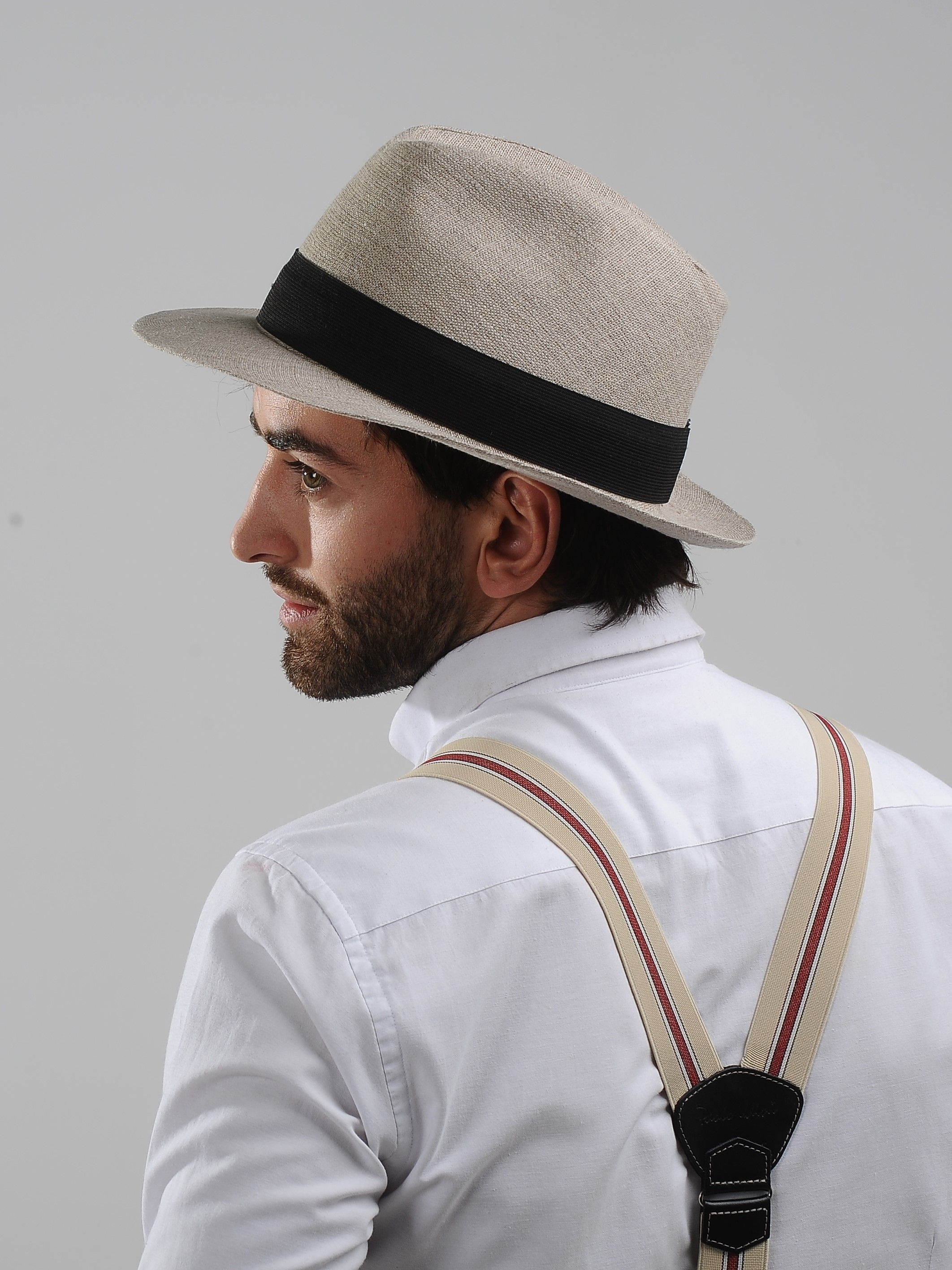 6f5aa751b7519 Lightweight and breathable summer Fedora wide brim hat. Hat is made with  pure natural linen