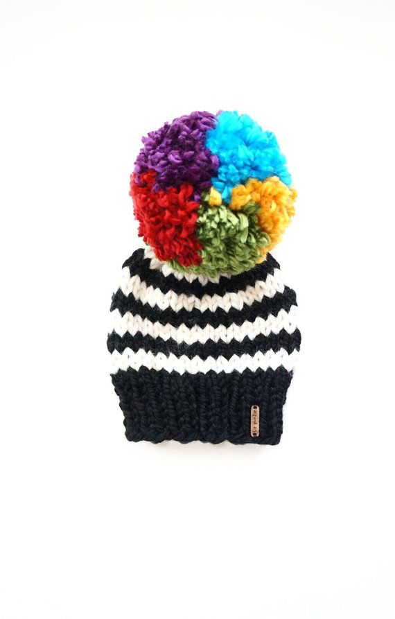 Pom pom beanie  Toddler Beanie  hat with pom pom  baby by LePunkie