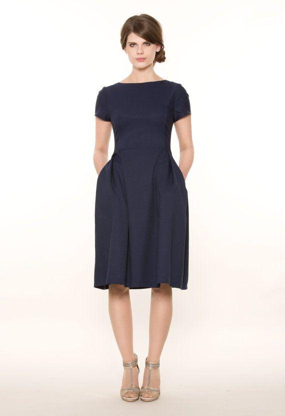 D.A.P.H.N.E klassisches Kleid dunkelblau: klassisches Kleid in ...