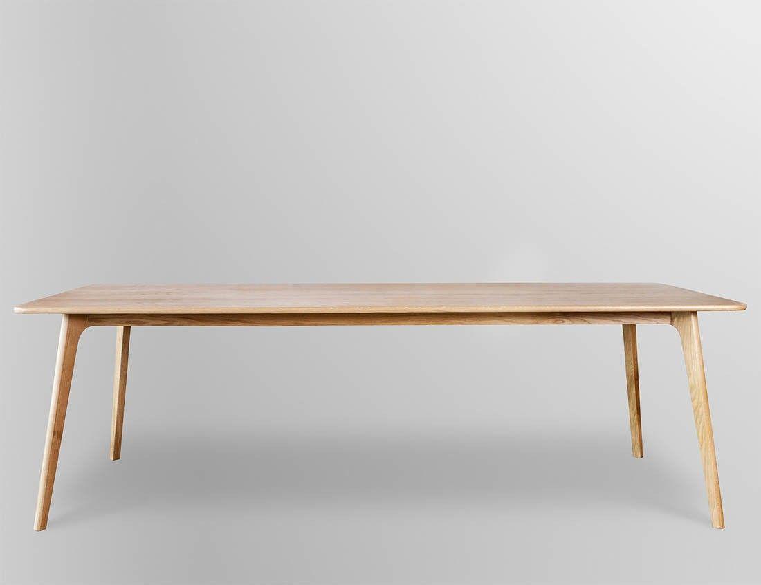 Retro Scandinavian Oak Dining Table Scandinavian Dining Table Dining Table With Bench Scandi Dining Table