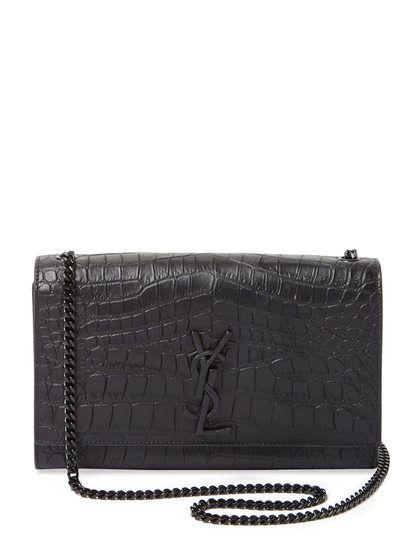 8df29850e94 Classic Kate Monogram Medium Embossed Leather Shoulder Bag by Saint Laurent  Paris at Gilt