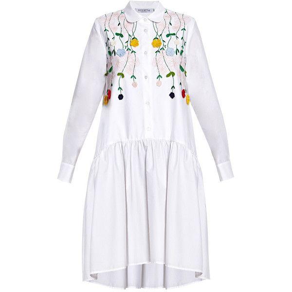 embroidered collar shirt dress - White Vivetta OZIEfHrJDT