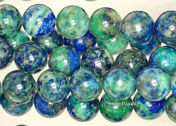 Free Usa Ship 10mm Azurite Gemstone Blue Green Round 10mm Loose Beads 16 Inch Full Strand Lot 1 2 6 12 And 50 90112333 131 Crazy Lace Agate Loose Beads Lapis Gemstone
