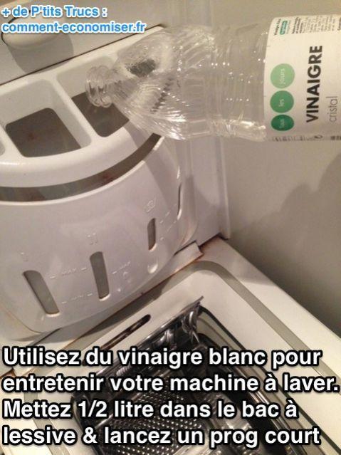 voici comment entretenir sa machine laver avec du vinaigre blanc astuce pinterest. Black Bedroom Furniture Sets. Home Design Ideas