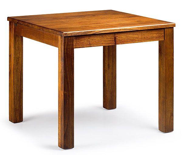 Mesa de comedor cuadrada colonial star material madera de for Mesas cuadradas de madera