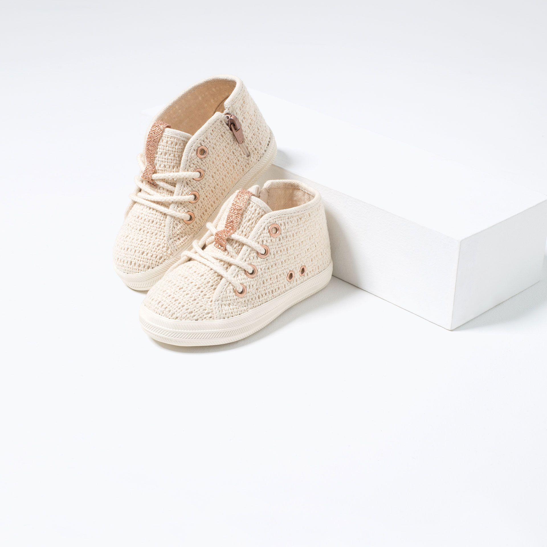 Baskets montantes pour bébés filles Bl654i
