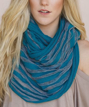 Loving this Teal Ribbed Infinity Scarf on #zulily! #zulilyfinds