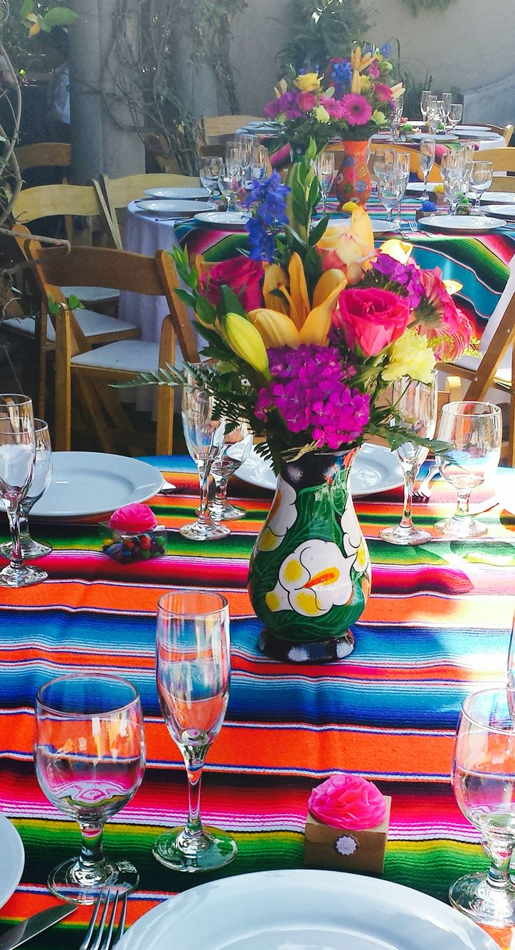 Mexican themed quinceanera centerpieces wedding multi for Mexican party decorations