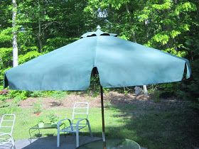 How To Re A Faded Patio Umbrella