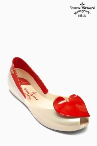 Vivienne Westwood For Melissa Queen Ballerinas mit Herzdetail heute online kaufen bei Next: Deutschland