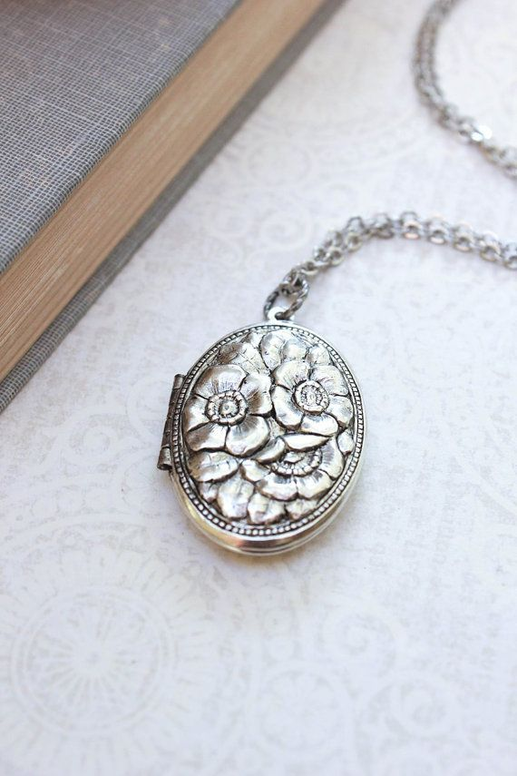 Hum floral pendant necklace - Metallic LtANBPVg