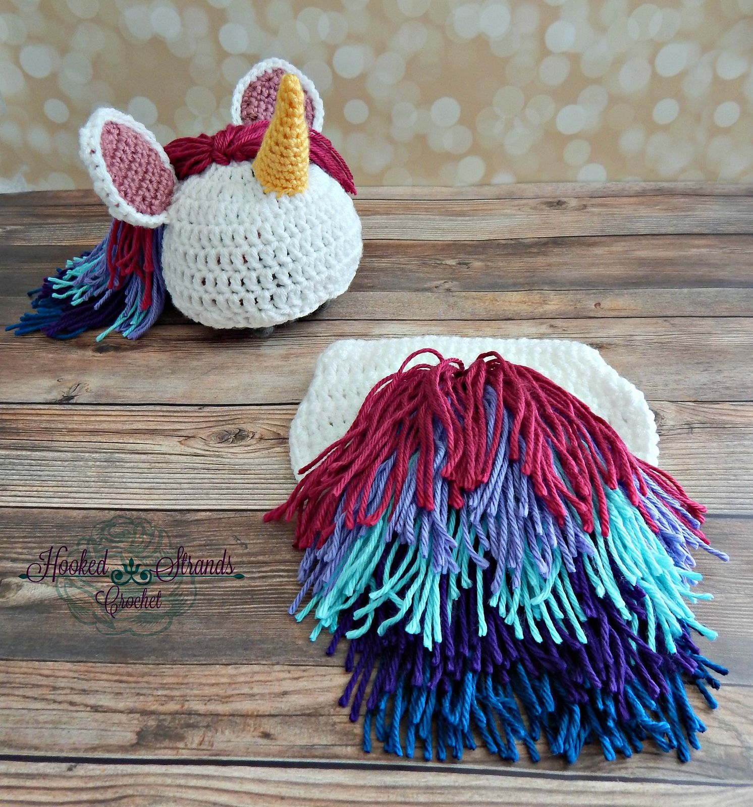 Unicorn Hat and Diaper Cover Newborn - 12 Months pattern by Briana K ...