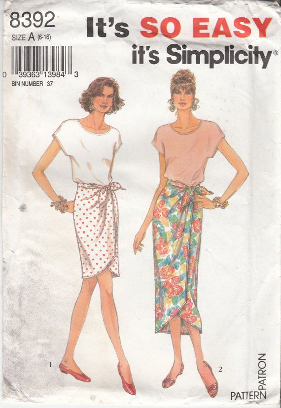 MOCK SARONG SKIRT And Stretch Knit Blouse Easy by HoneymoonBus, $7.99