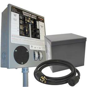 Generac 6294 30 Amp Power Transfer Switch System 6 10 Circuits Transfer Switch Generator Transfer Switch Portable Generators