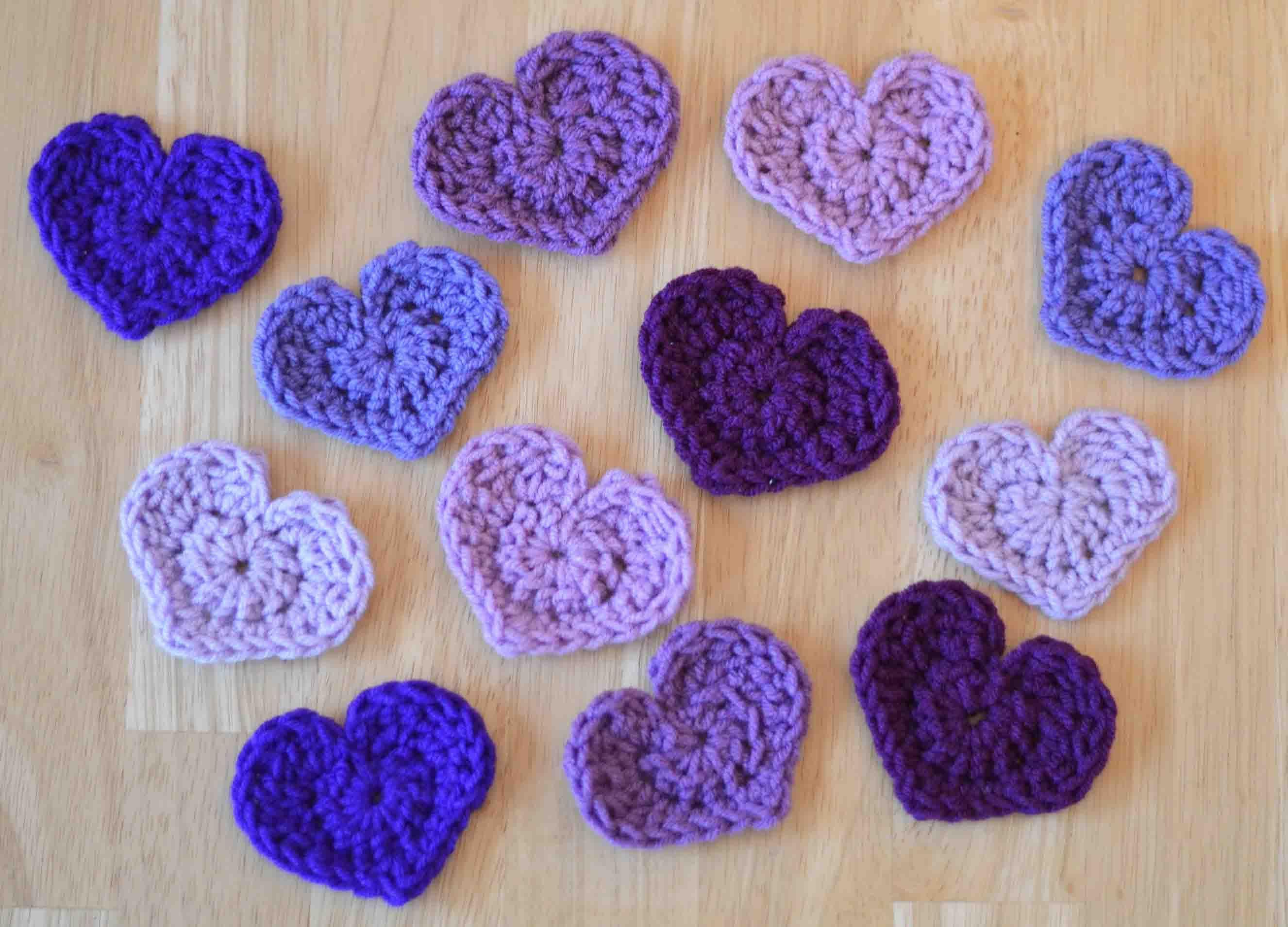 The Easiest Heart Crochet Pattern Ever!   Patrón de ganchillo ...