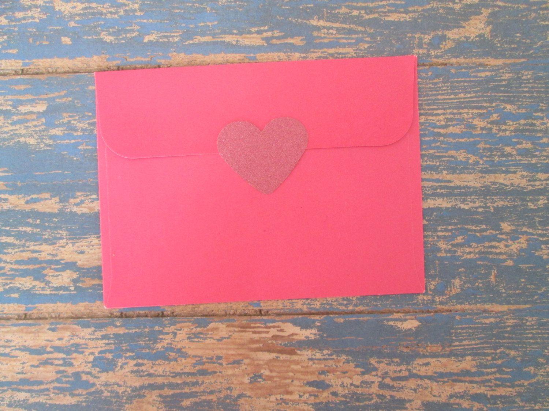Pink Glitter Heart Stickers - Glitter stickers envelope seals Pink ...