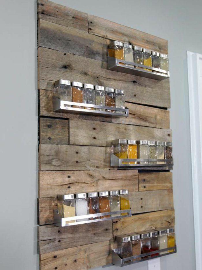Küchenideen Holzwand Für Gewürze | Deko | Pinterest | Holzwand