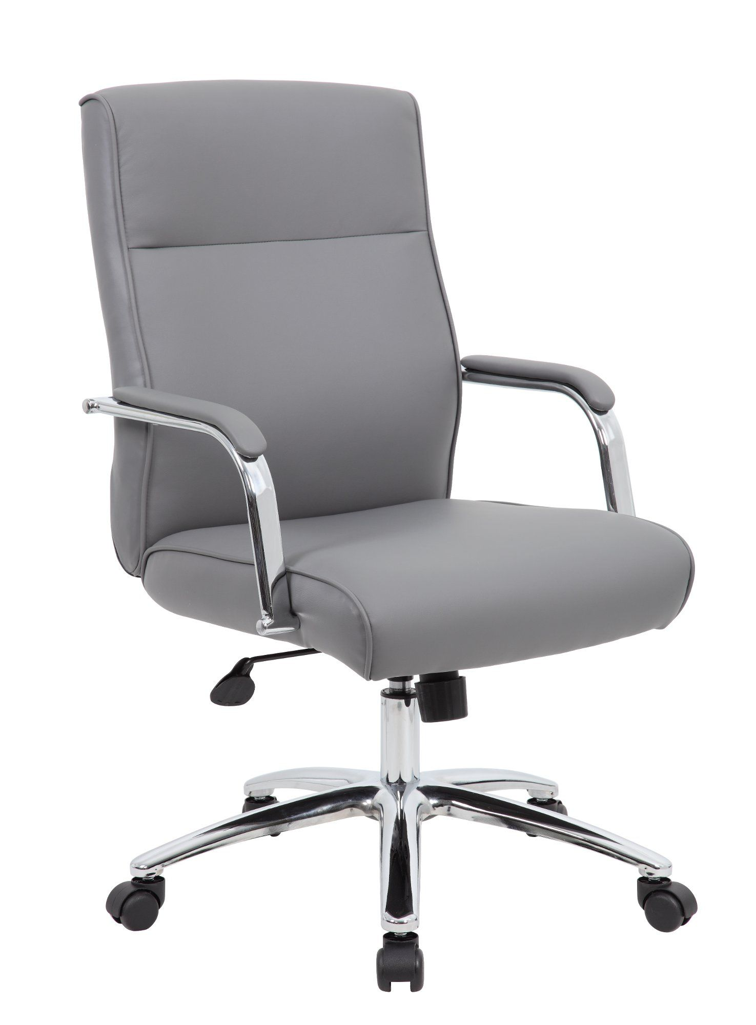 Gray Caresoft Vinyl Office Chair Modern Executive Series In 2020