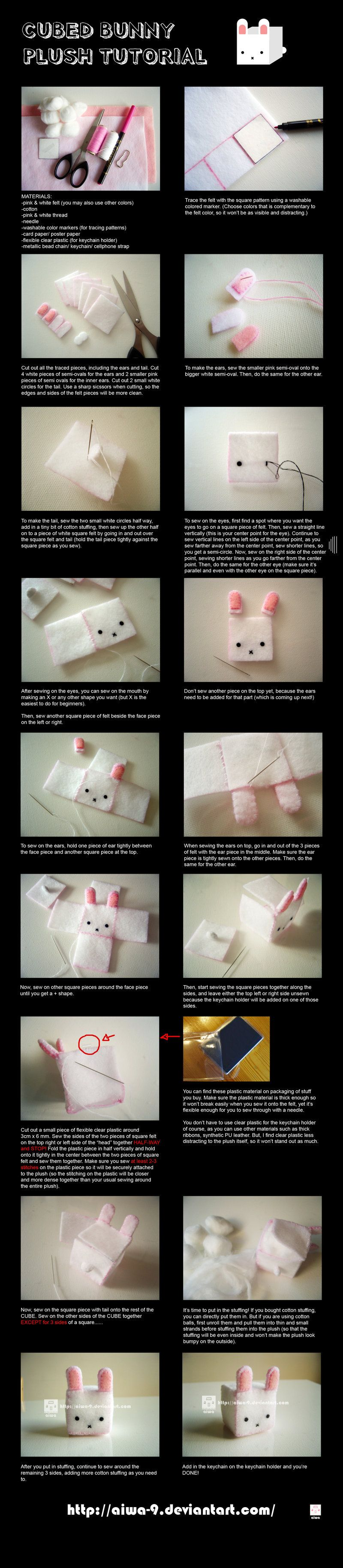 The CUBED Bunny Plush TUTORIAL is finally done XD This is the bunny from my 2nd CUBED series You can also try making other cubed plush using this tutorial. Enjoy~ If you still have questions, you c... #bunnyplush