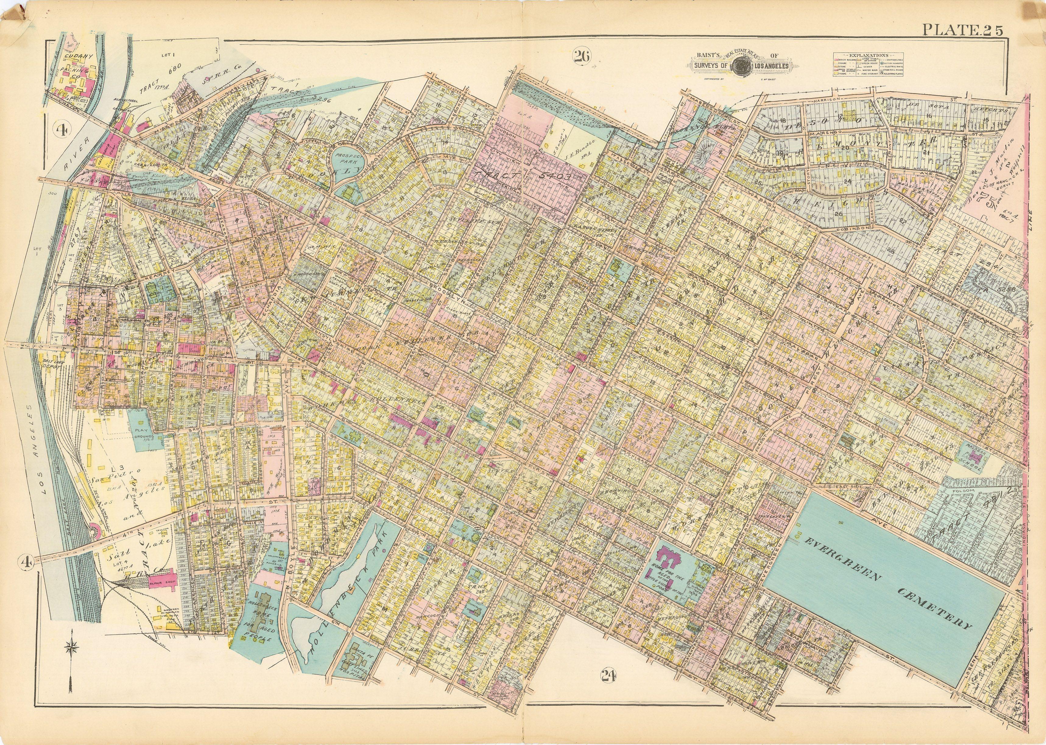 Baists Real Estate Atlas Surveys Boyle Heights Los Angeles - Jo mora los angeles map
