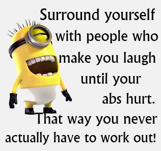 Can You Get Abs From Laughing A Lot Minion Quotes Timeline Photos Facebook Minion Quotes Funny Picture Quotes Minions Funny