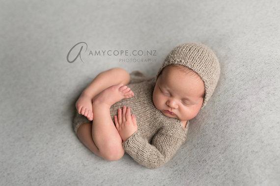 Pdf Knitting Pattern Newborn Photography Propclassic Long Sleeved