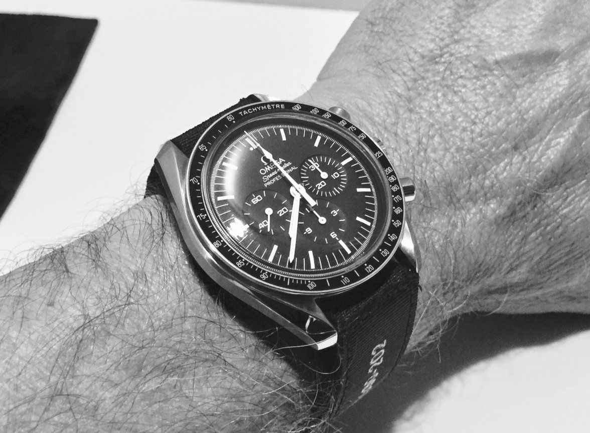 Wearing The Nasa Velcro Strap With Omega Speedmaster Omega Forums Omega Speedmaster Omega Speedmaster Moonwatch Velcro Straps