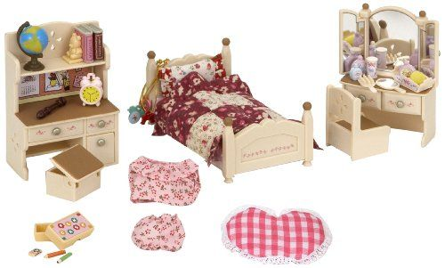Dollhouse Furniture Bed Room Dressing Table /& Mirror Set for Sylvanian Family