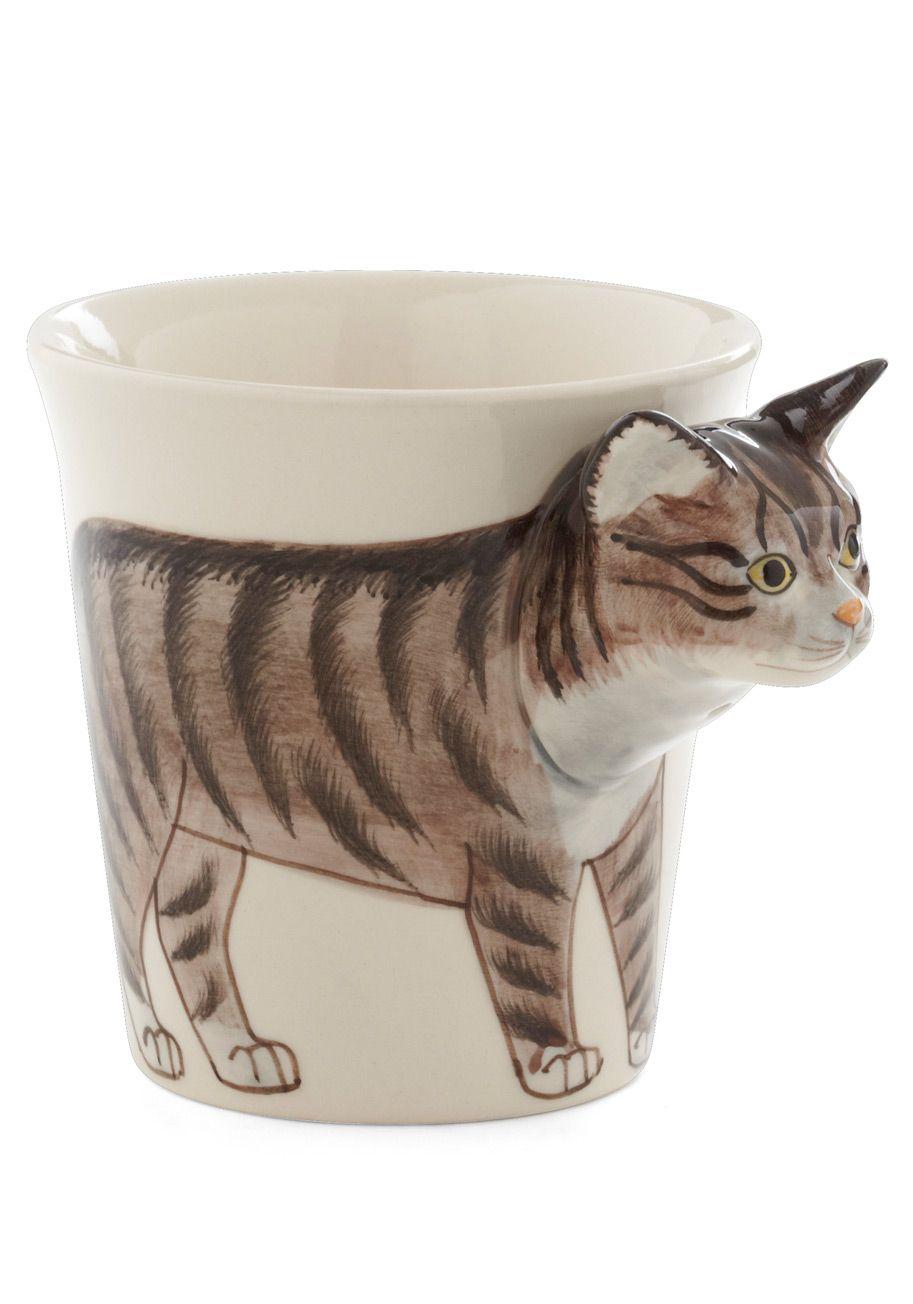 Tabby Hour Mug Modcloth Mugs Cute Mugs Cat Mug