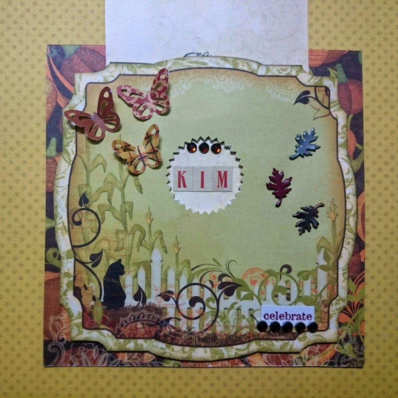 Happy Birthday Kim Scrapbook Bo Bunny Projects