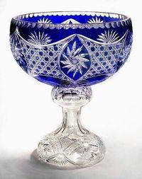 Palais Royale Pedestal Polish Crystal Punch Bowl