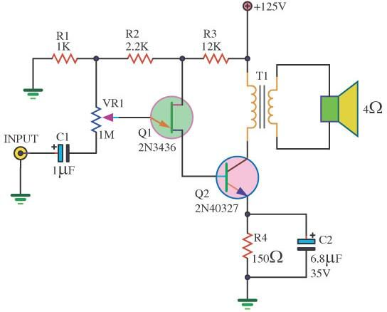 high volt mini amplifier with ujt transistor   Mini ...