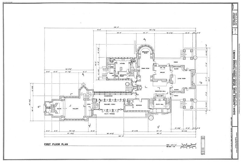 Frank Lloyd Wright Floor Plan Dana House Frank Lloyd Wright Design House Floor Plans