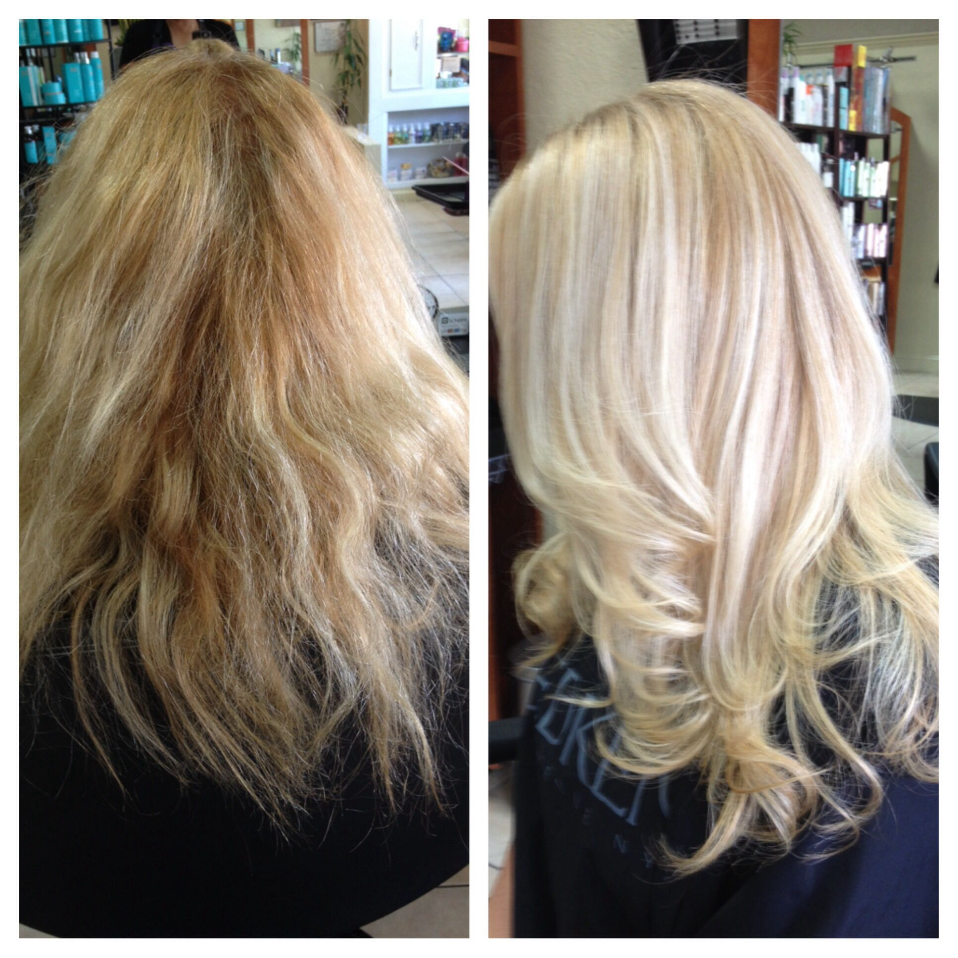 Olaplaex has a board! Check out more before and afters. Before and after with Olaplex!  H A I R