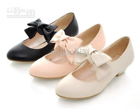 ab39e75588 S2131 Japan Women Cute Ladies Deluxe Fashion Bow Mary Jane Low Heel ...