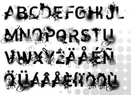 Graffiti Alphabet Fonts A Z Brushes Style